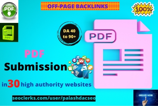30 Best PDF submission or document sharing backlinks manually on high DA sites