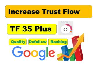 I will manually create 40 TF 35 plus Quality Dofollow Backlinks for seo service.