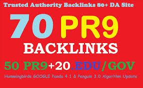Manually create 50 Pr9 + 20 Edu Gov High Pr SEO Authority Backlinks for google top rank