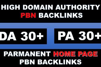 I will build 100 high pa da parmanent homepage pbn backlinks