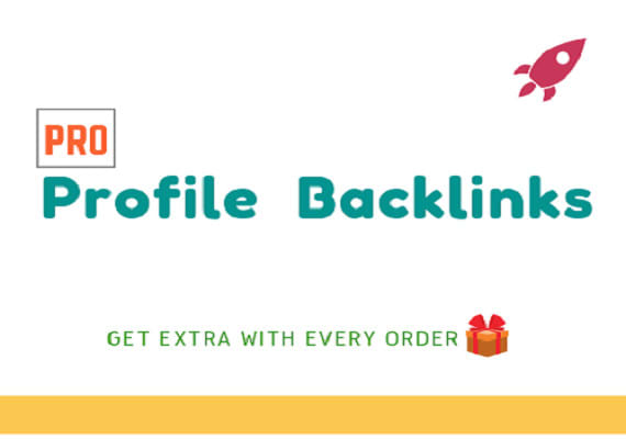 I will create 50 pro profile backlinks from authority sites