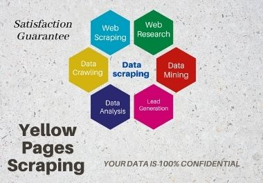 I will do web scraping,  yellow page Data scraping and data extraction