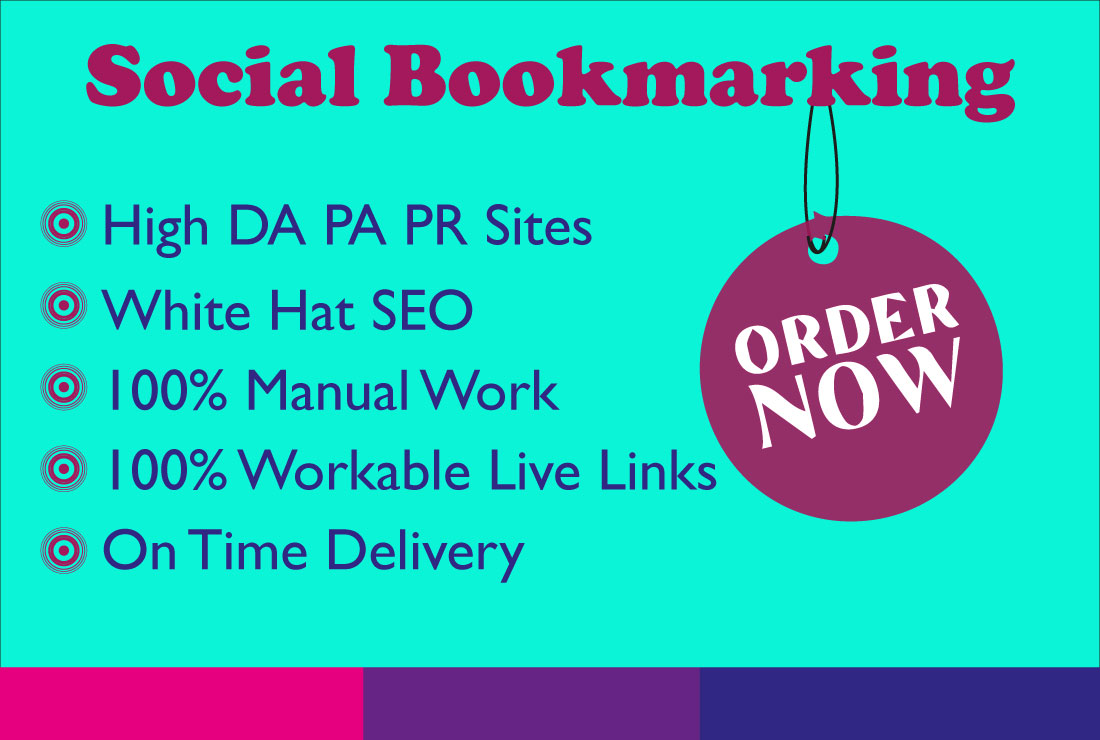 30 Social Bookmarking Submission with High Quality Backlinks