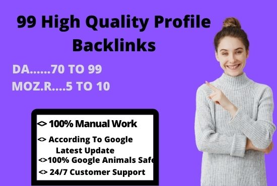 Create 99+ High Quality Profile Backlinks