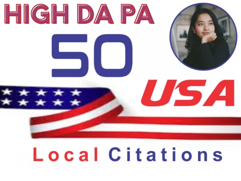 I will do amazing 50 USA local citations and Business directory submission