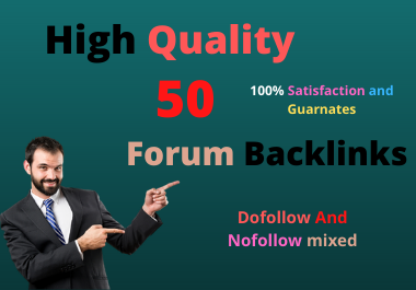 I will do High Quality 50 Forum Backlinks forums according to your site