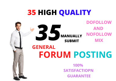 I will create High Quality 35 Forum Backlink niche and general