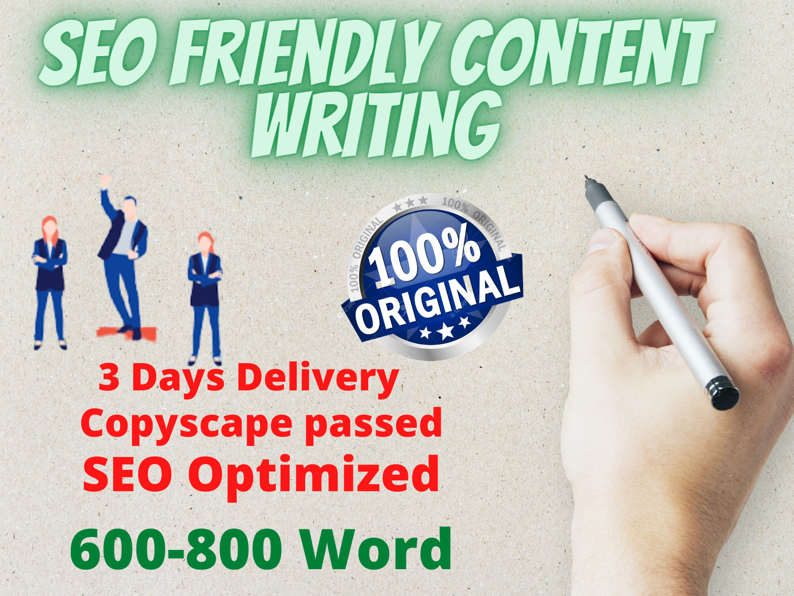 I will write 600-800 word SEO Friendly article for your business blog
