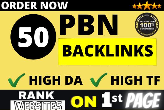 I will build 50 PBN Backlinks for casino poker gambling on high DA PA websites