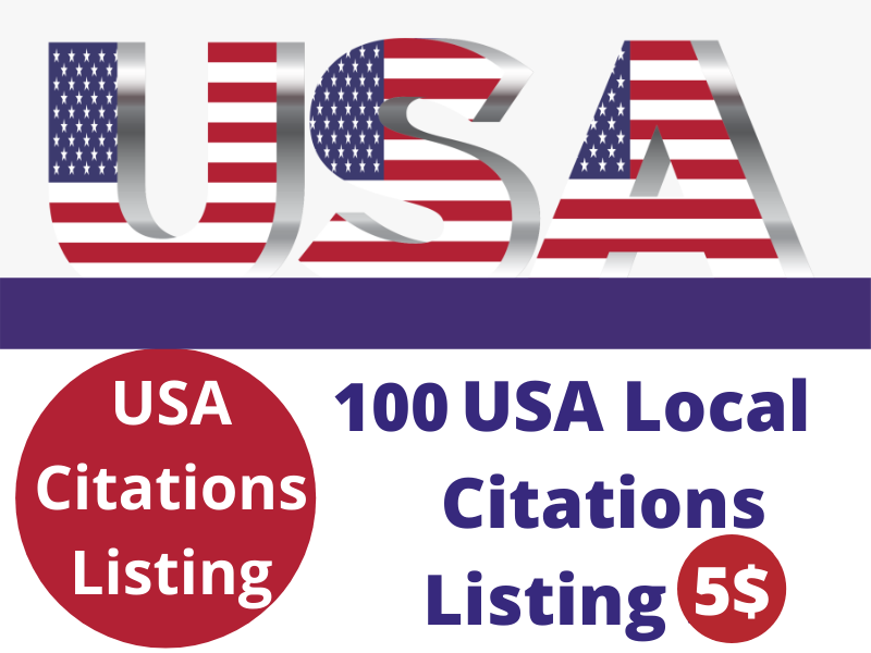 High Quality 100 USA local citations listing For Your local Business
