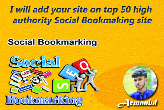 I will add your site on top 50 high authority social bookmaking site