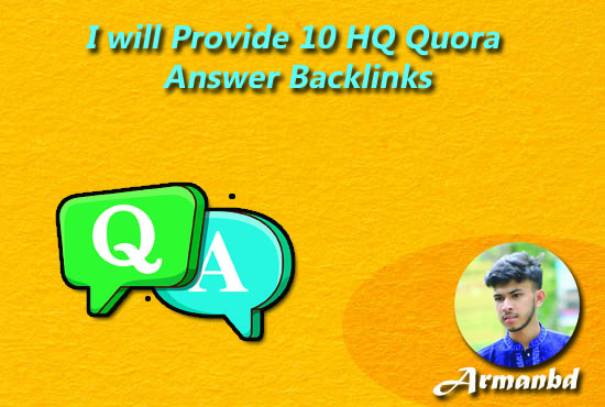 Get 10 HQ Quora Answer Backlinks