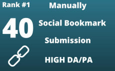 I create High 38, 98 Social Bookmarks Submission