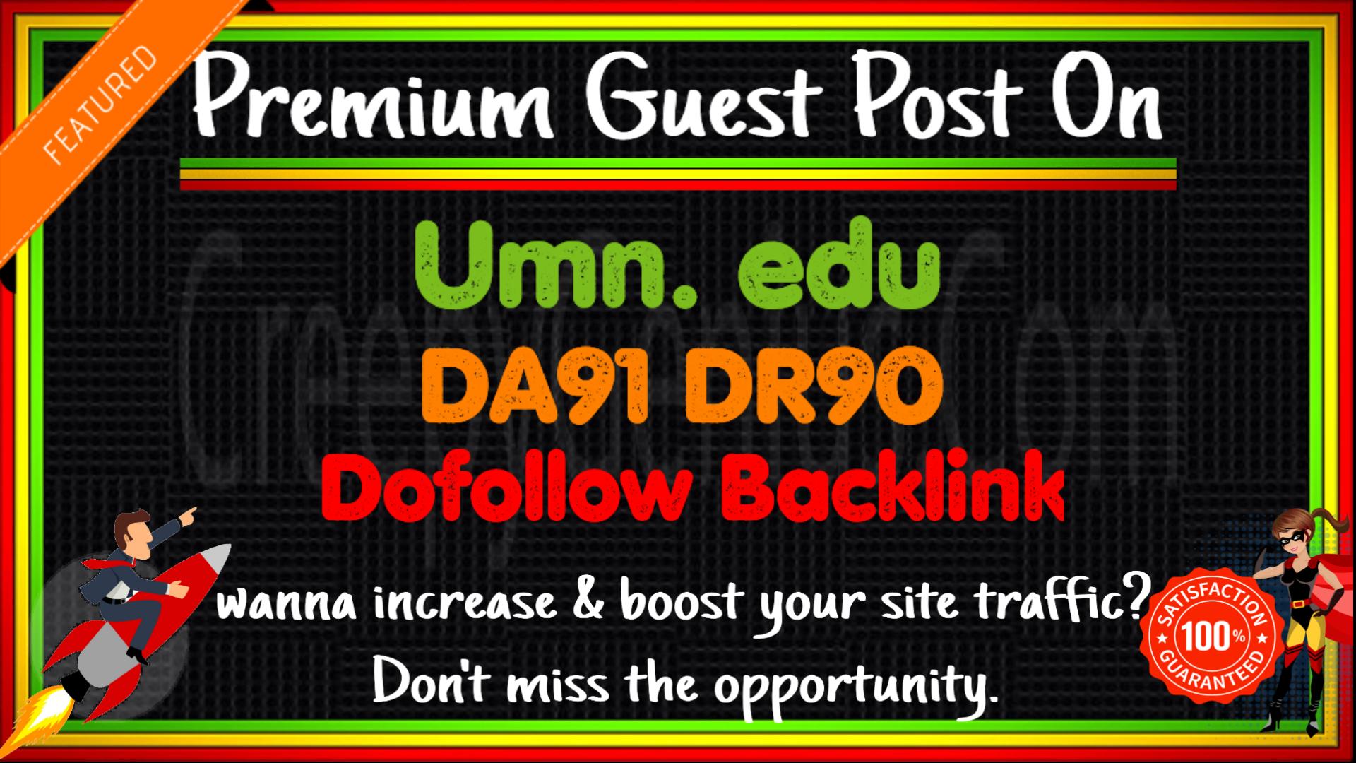 Guest Post on UMN. edu - The University of Minnesota - DA91