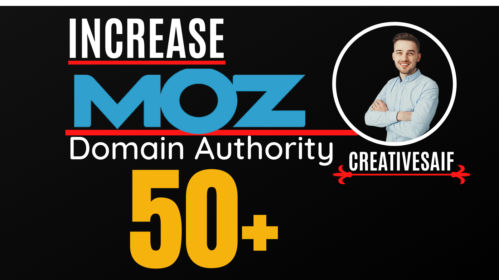 I will increase moz domain authority,  increase moz da 0 to 50 plus SEO