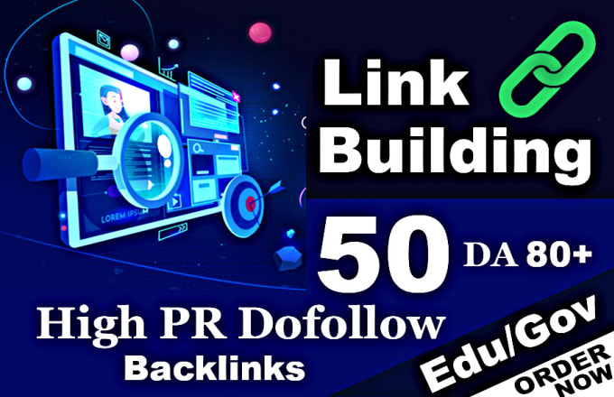 I will create your 50 high pr SEO dofollow backlinks for you