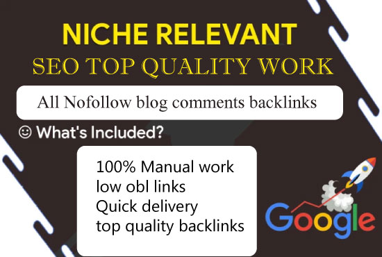 I will do 55 niche relevant high quality blog comments backlinks