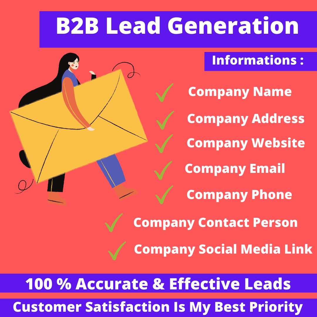 I Will Do 200 Lead Generation,  B2B Lead Generation
