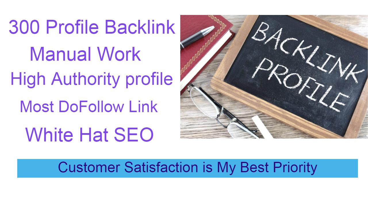 I will create 300 High Quality Profile Backlinks