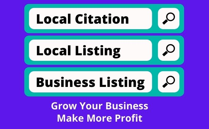 70 Local citations or business listing for new business
