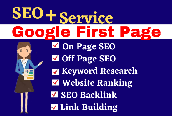 I will provide complete SEO service for google first page