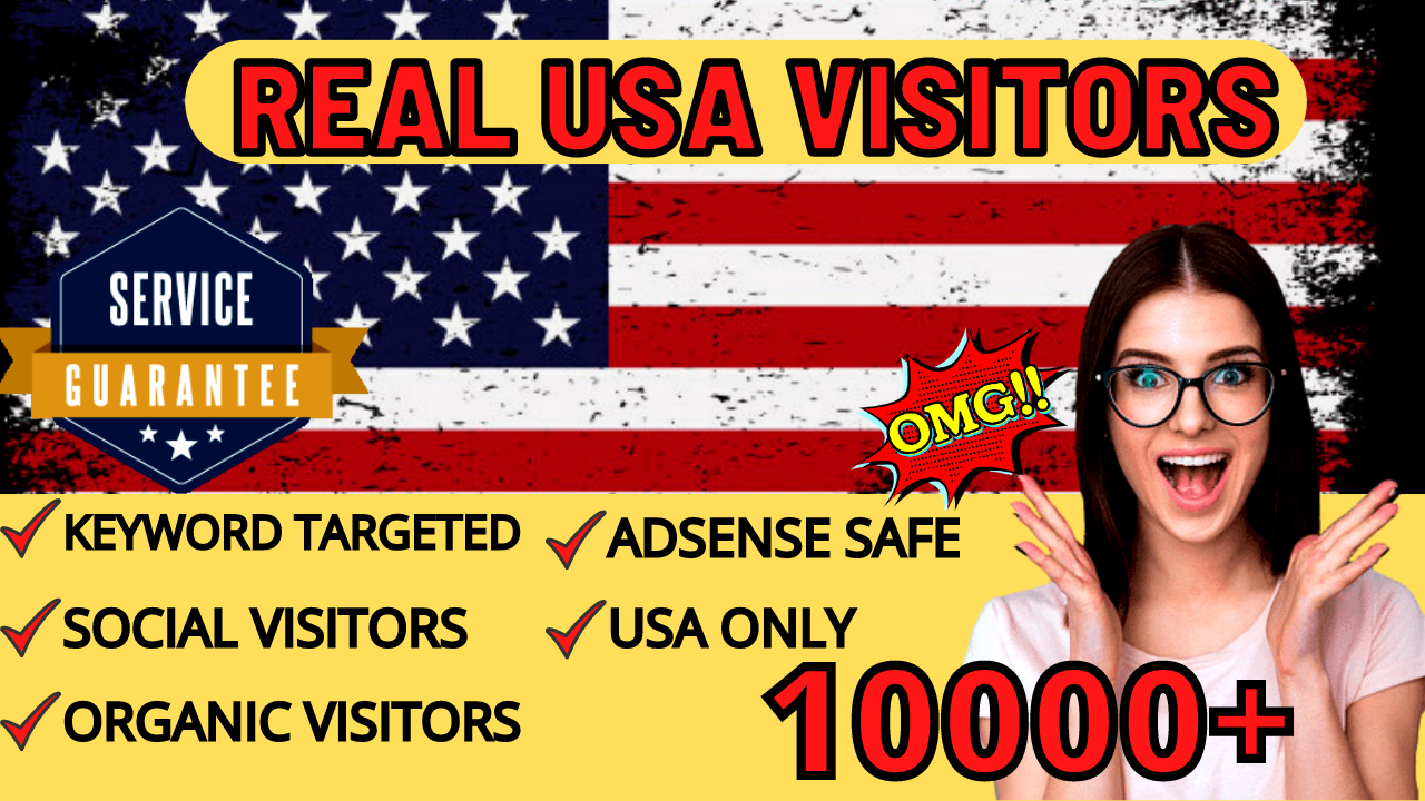 Send 10000 USA TARGETED REAL Web Traffic to your web or blog site within 7 day