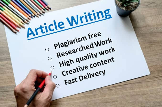 I will write 2× 500 words article for your website or blog