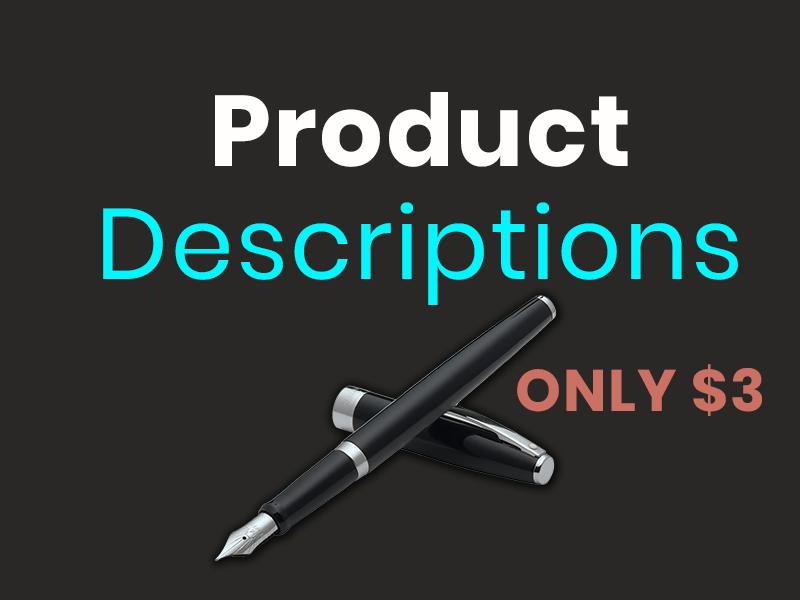 I will write a killer SEO product description