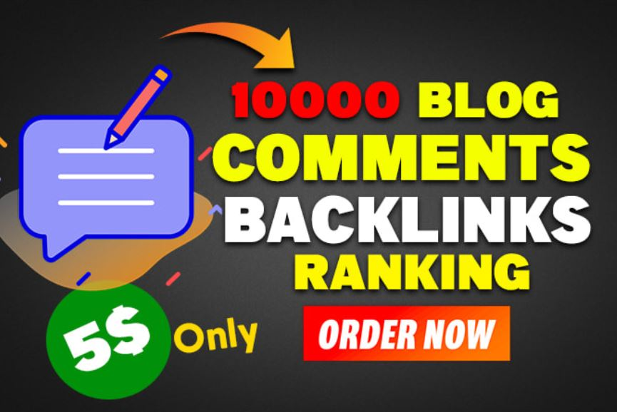 I will create dofollow authority blog comment backlinks
