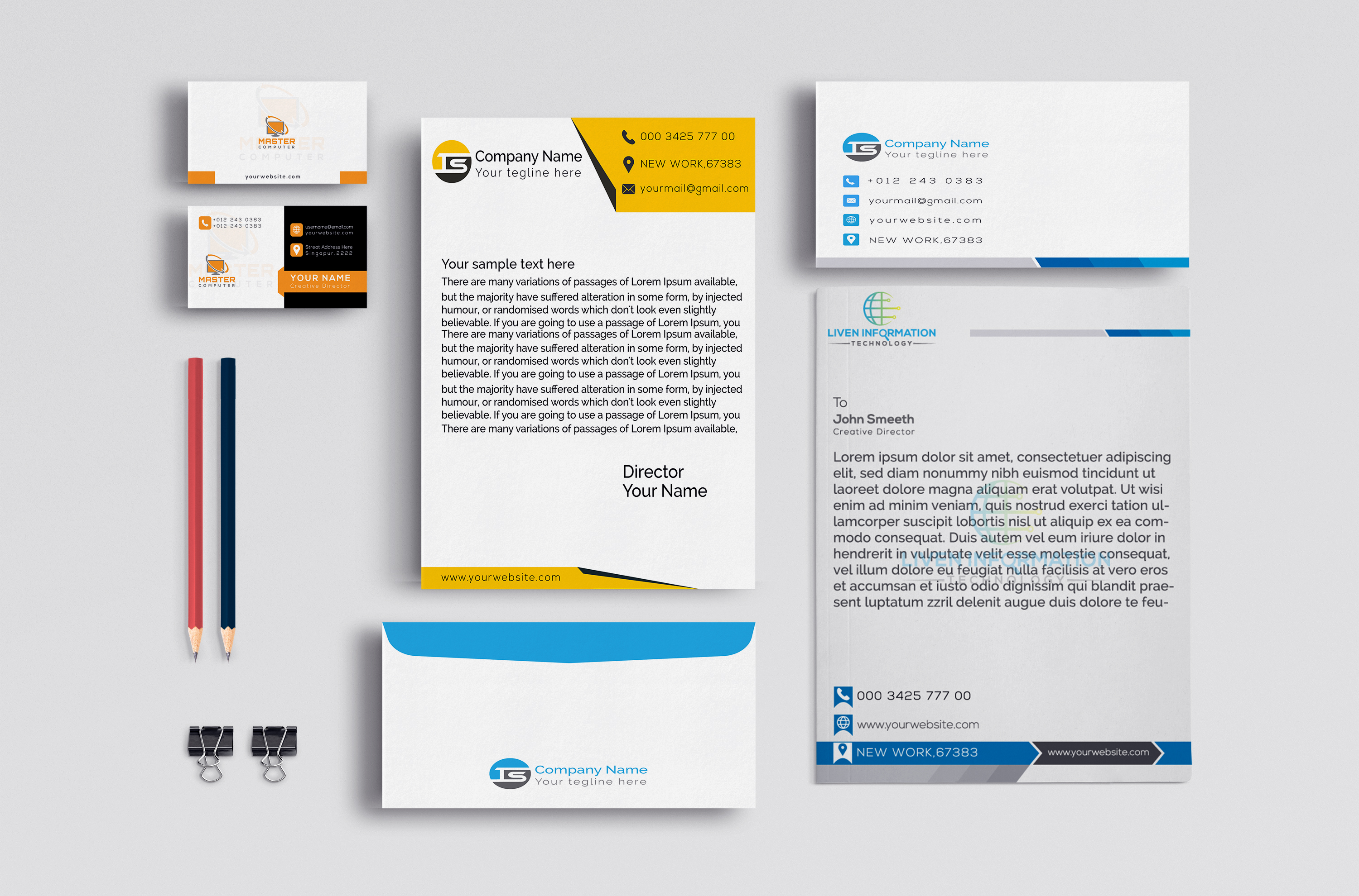 I will create Professional Business card,  Letterhead and Envelope Design