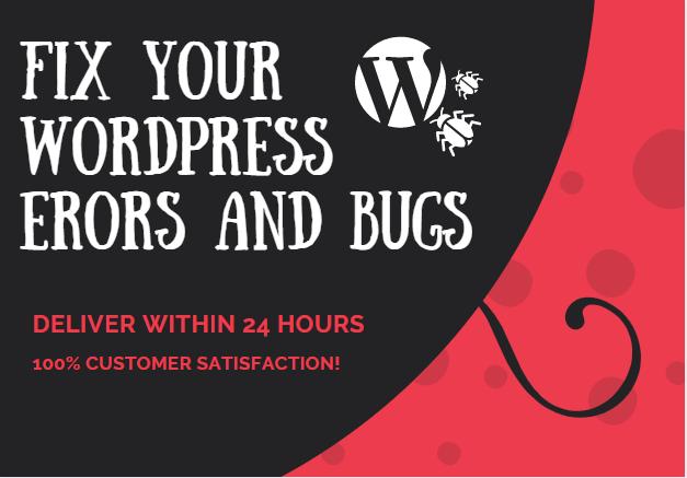 fix wordpress issues,  error,  bug or update wordpress website