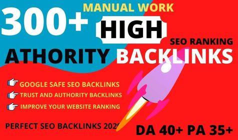 Build 300 web 2.0 DA 50+ PA 40+ TF CF Permanent Dofollow backlink