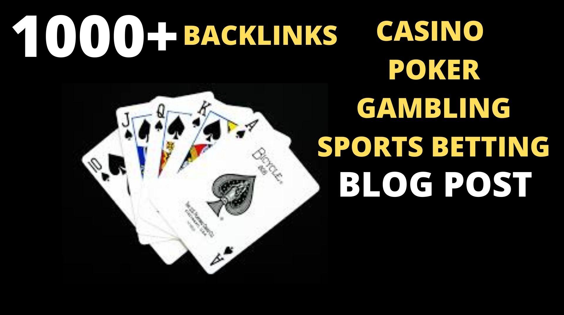 Permanent 1000 powerful Casino,  Gambling,  Poker,  Sports High Quality Web2.0 Backlinks