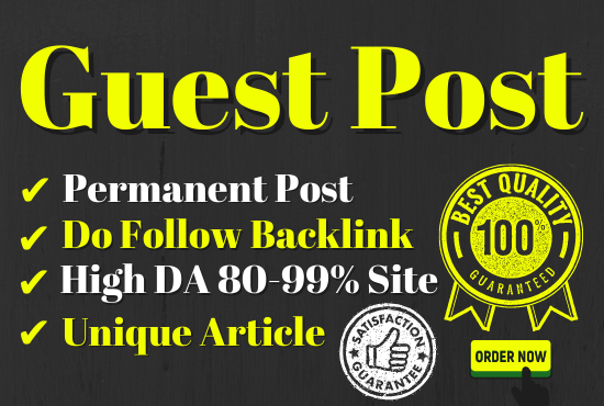 Write and Published 10 Guest post different article 500+ word Do-Follow backlinks