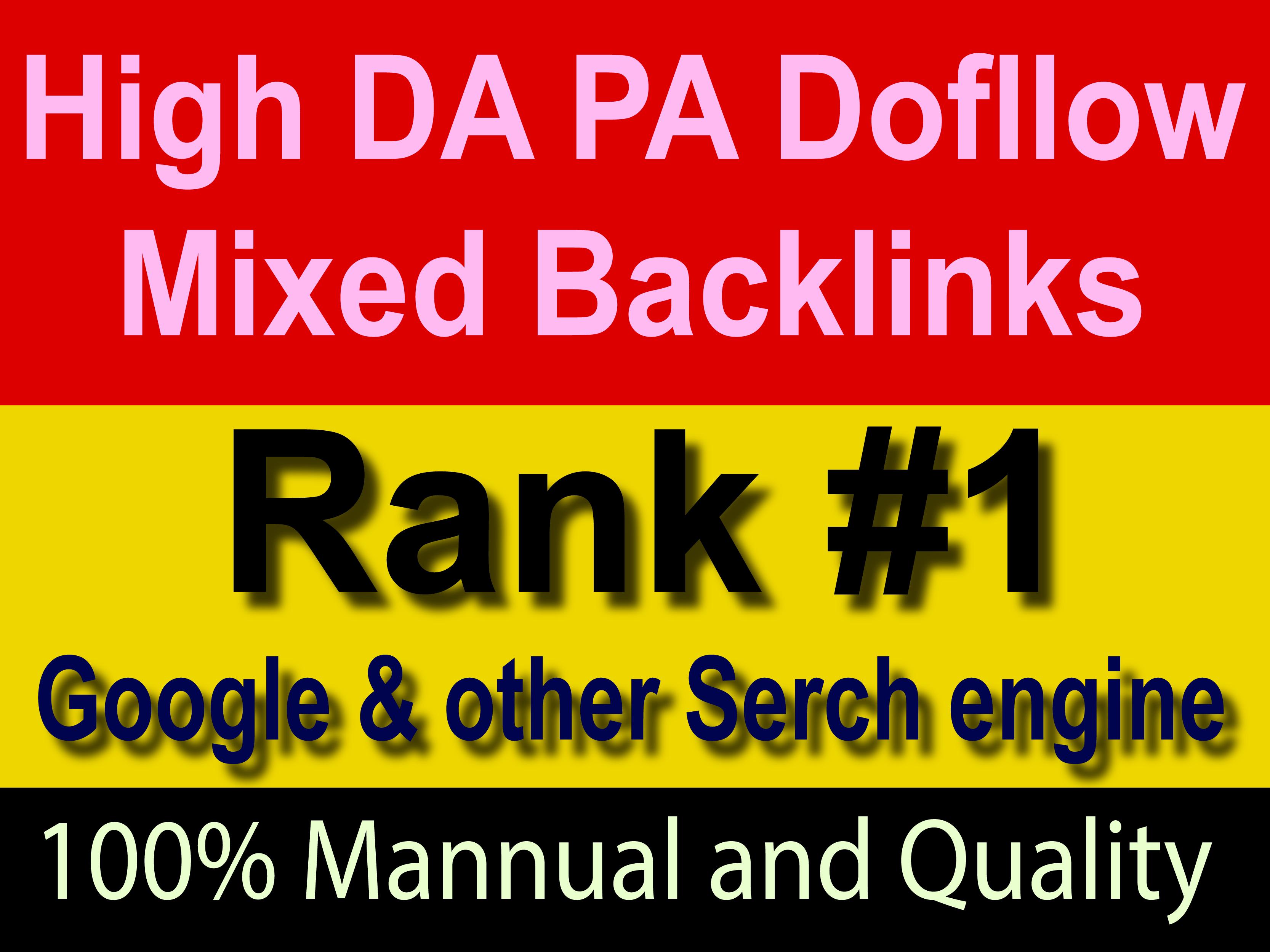 Make Manually 30 HQ DA70+ Mixed Backlink Permanent Post help to rank Google No 1
