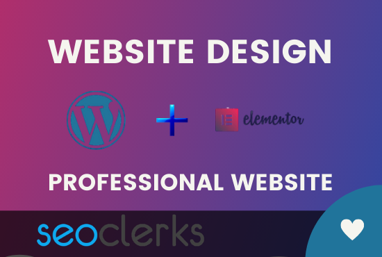 design your wordpress website using elementor pro page builder