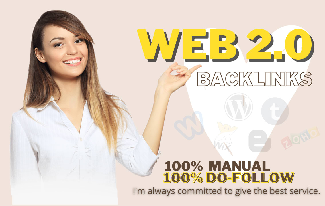 build 2000 authority web 2.0 backlinks for Google 1st page ranking