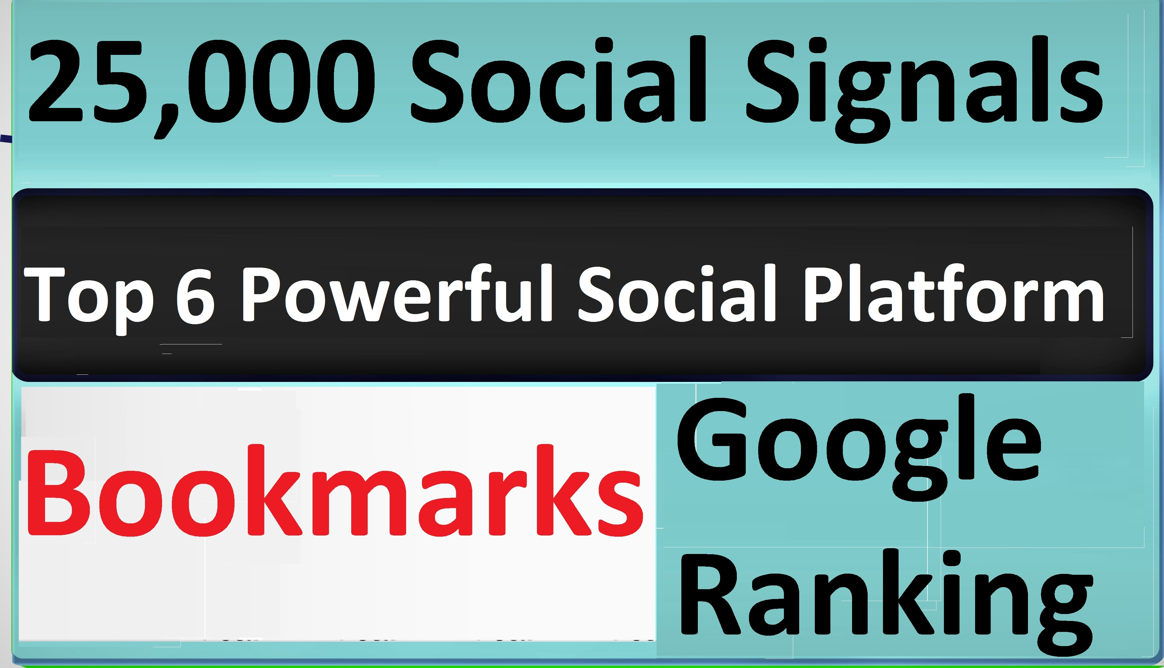 Give Top 6 Powerful Social Platform 25,000 PR9 SEO Social Signals Share Bookmarks Important Google