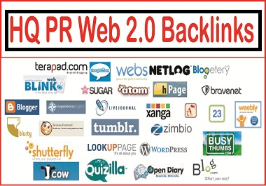 50 manually we2.0 backlinks with High DA/PA all sites