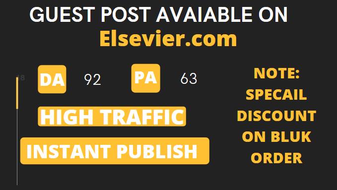 Guest Post on Elsevier. com DA92