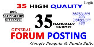 Provide 35 Manual Build Forum Posting Live links SEO Link Building Service