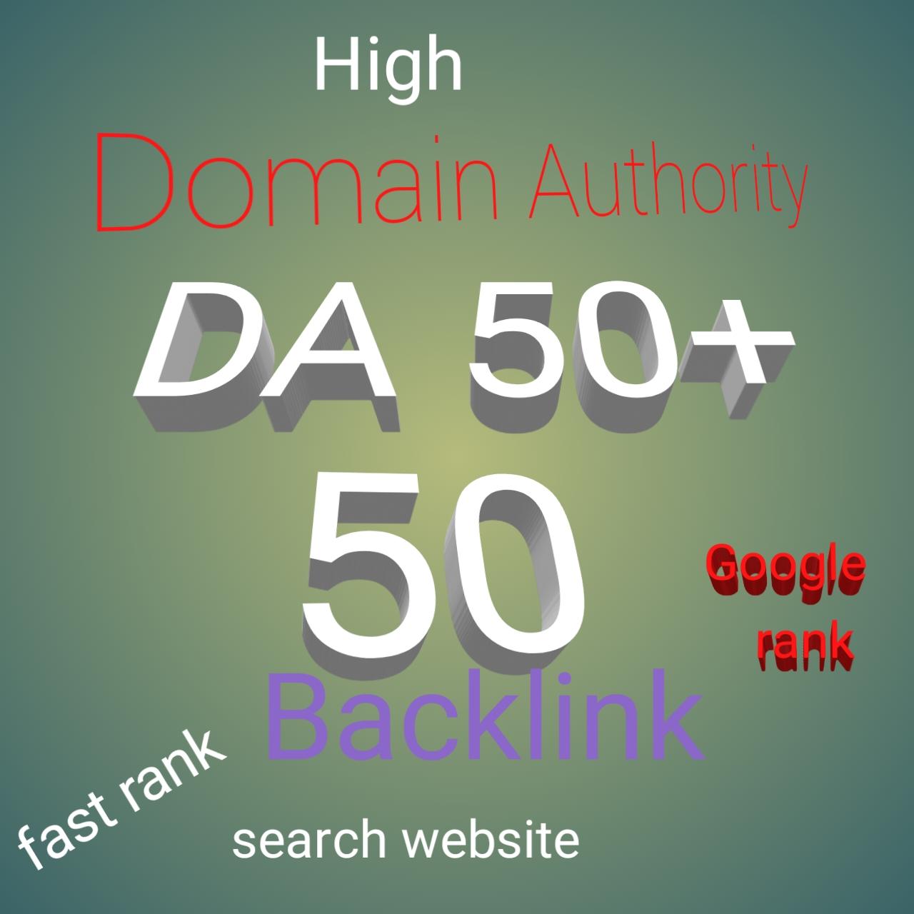 Built 50 powerful DA50+ High-quality Backlink