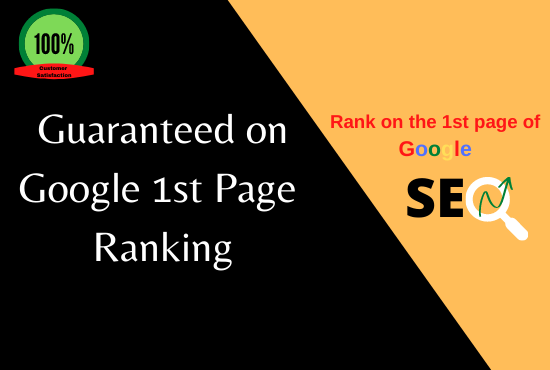 Offer you guaranteed Google 1st page ranking with best linlbuilding service