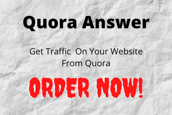 I'll promote your website in quora with targeted traffic