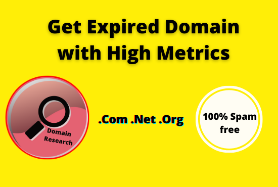 find 3 expired domain with high metrics