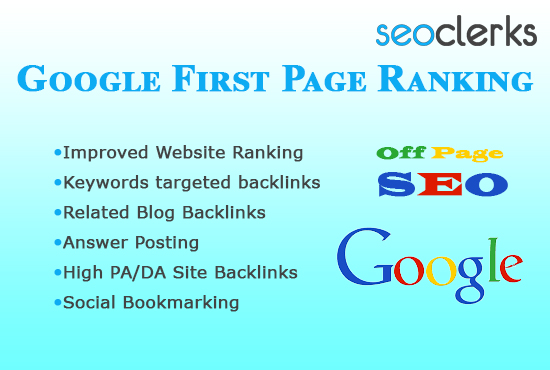 Guaranteed Google First page Ranking With off page SEO High Quality Backlink