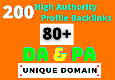 I Will Create 200 HQ DA PA Profile Backlinks Manually