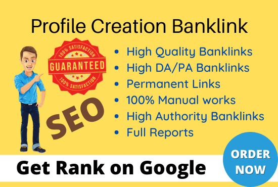 I will create 70 High-Quality profile creation backlinks & promote your website