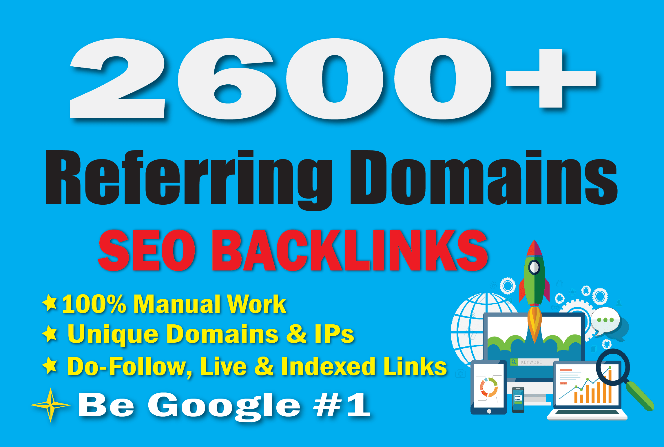 I will build referring domains SEO backlinks for website ranking and Top Google 1