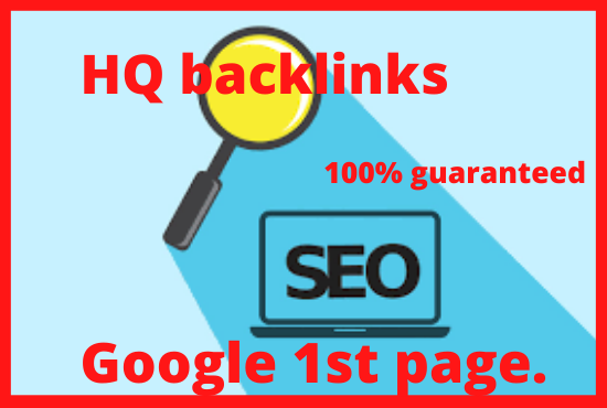 Manually HQ link-building for google 1st page with traffic.